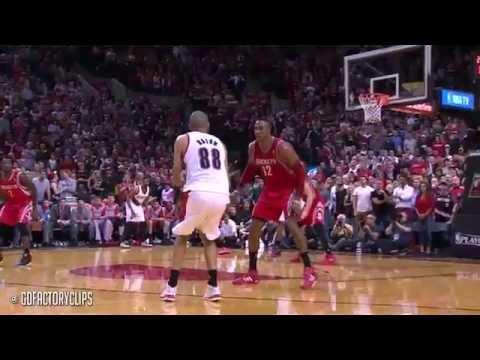 Nicolas Batum Full Highlights vs Rockets 2014 Playoffs West R1G4 - 25 Pts