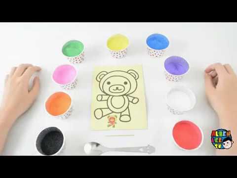 Video Funny Happy Baby Teddy Bear Sand Coloring Mewarnai Beruang