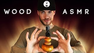 ASMR WOOD TRIGGERS - Tapping. Scratching. Carving.