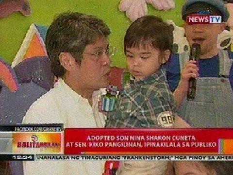 BT: Adopted son nina Sharon Cuneta at Sen. Kiko Pangilinan, ipinakilala sa publiko