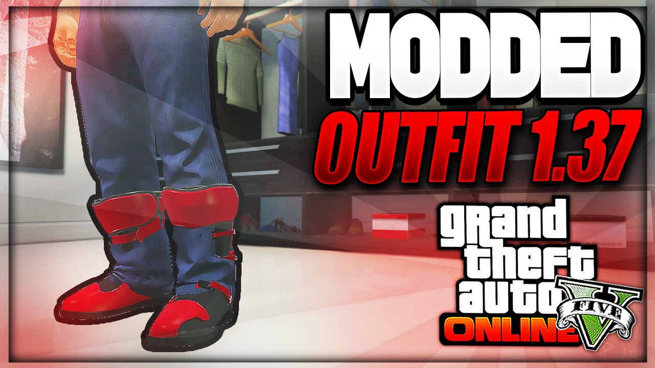 ecce05e9553 GTA 5 Online -  NEW  MODDED BIKER SUIT CLOTHING GLITCH! After Patch 1.37 (GTA  5 Clothing Glitch)