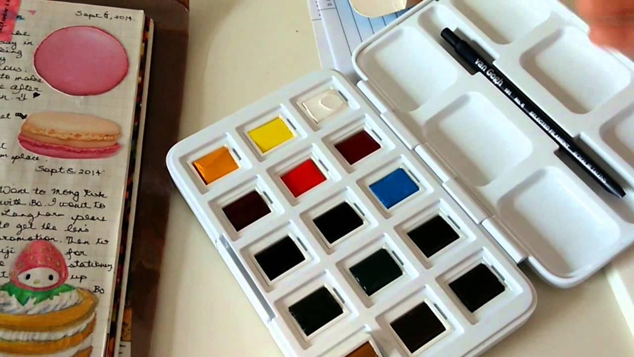 van gogh watercolor pocket box 1st impression youtube