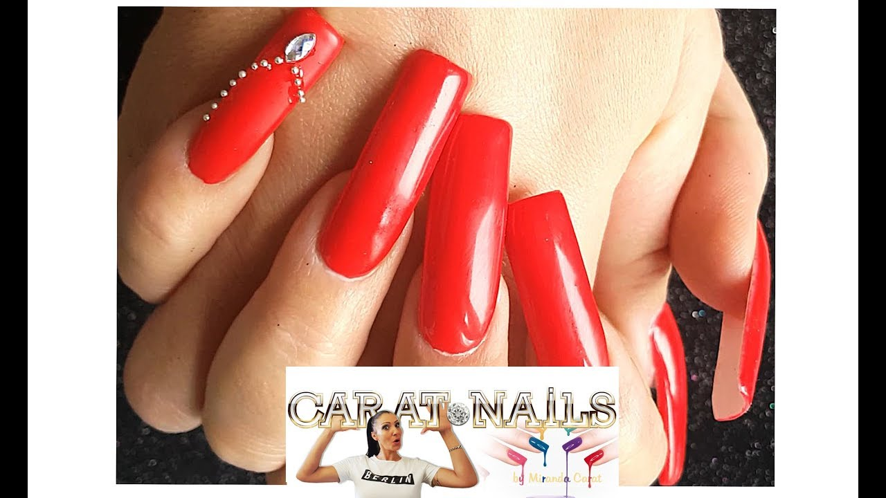 XXL Version * Acrylnägel * Newstyle * Tipp * Red / Rot * Nail Art ...