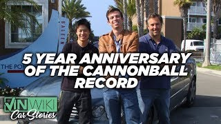 5 years ago we set the Cannonball record
