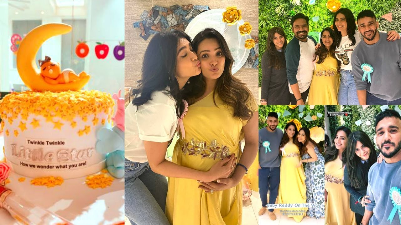 Anita Hassanandani Baby Shower With Husband Rohit Reddy | Ekta Kapoor, Karan Patel, Krystle D'Souza - YouTube