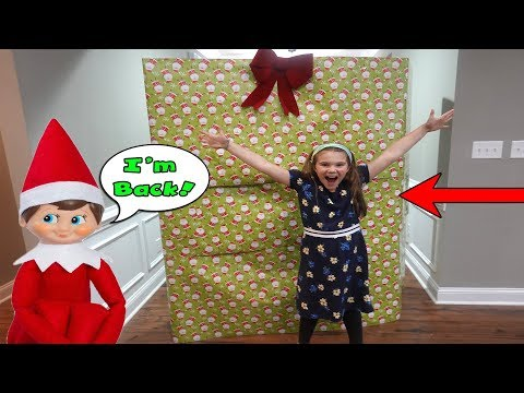 Huge Present From The Elf On The Shelf! Elf On The Shelf Is Back!