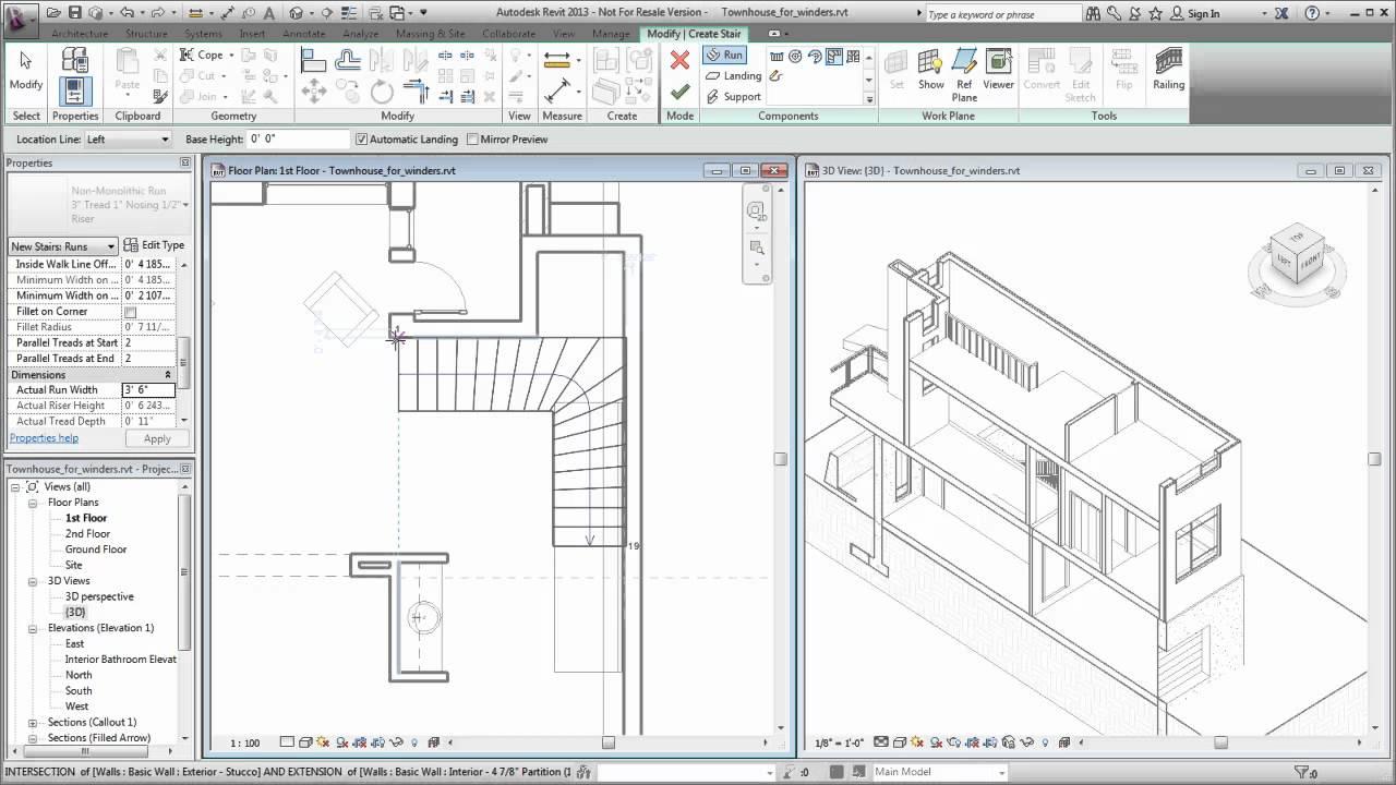 Stair calculator winders - Autodesk Revit Creating A Winder Stair