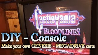 Sega Genesis Repro - How to make Sega Genesis repro carts : Casltevania Bloodlines