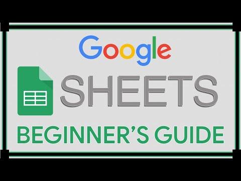 Google Sheets Tutorial
