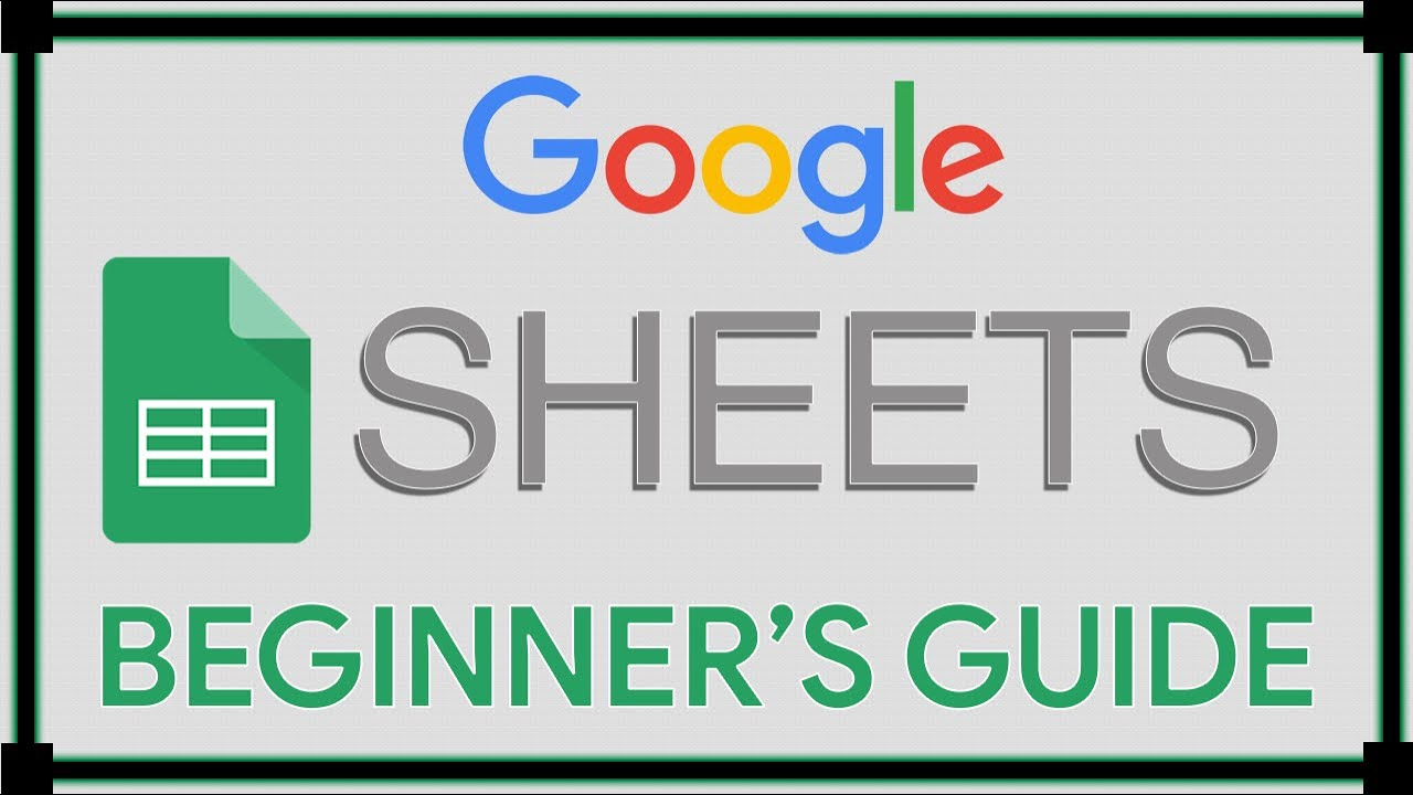 Google sheets tutorial youtube google sheets tutorial baditri Image collections