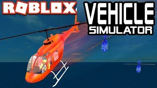 HELICOPTER RACES in Vehicle Simulator!! | Roblox