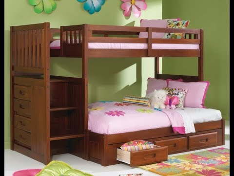 Bedroom Furniture with Bunk Beds For Kids With Stairs