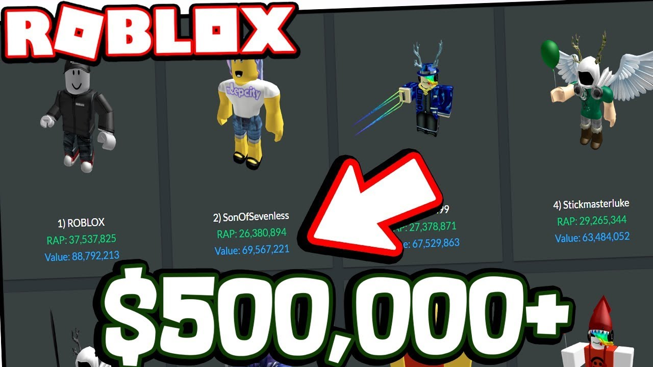 Roblox Player Net Worth The Richest Roblox Players Worth 500 000 Usd Youtube