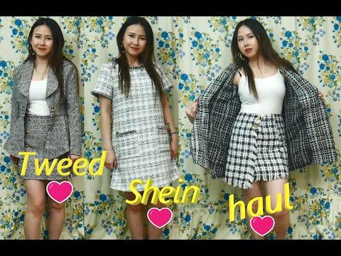 SHEIN HAUL🌸   Tweed Clothing   Thử Quần Áo Vải Len Xù  