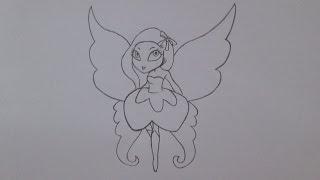 Como desenhar uma fada