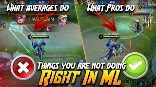 Tips to become better player | Things you are not doing in ML | Mobiles Legends