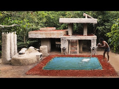 Building The Most Luxury Swimming Pool In Front Of Ancient Villa House
