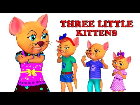 Three Little Kittens Song with Lyrics - Popular Nursery Rhymes for Babies | Mum Mum TV