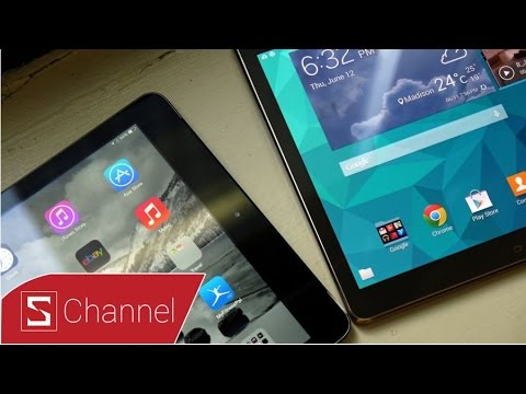 Schannel HCM - So sánh iPad Air và Galaxy Tab S 10.5: Thiết kế, màn hình,camera... - Phần 1