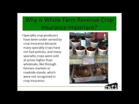 For producers: Whole Farm Revenue Protection for specialty crop operations