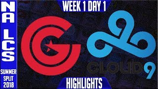 Video CG vs C9 Highlights | NA LCS Summer 2018 Week 1 Day 1 | Clutch Gaming vs Cloud 9 download MP3, 3GP, MP4, WEBM, AVI, FLV Juni 2018