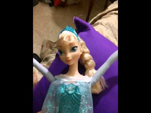 My elsa doll singing part of the Frozen theme song