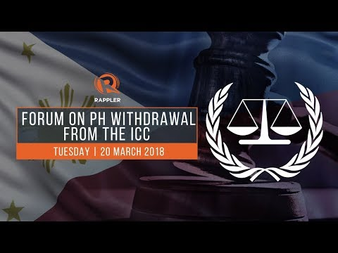 WATCH: Forum on the Philippines' withdrawal from the International Criminal Court