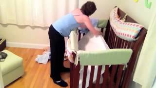 Quickzip Vs. Regular Crib Sheets - Watch How Easy