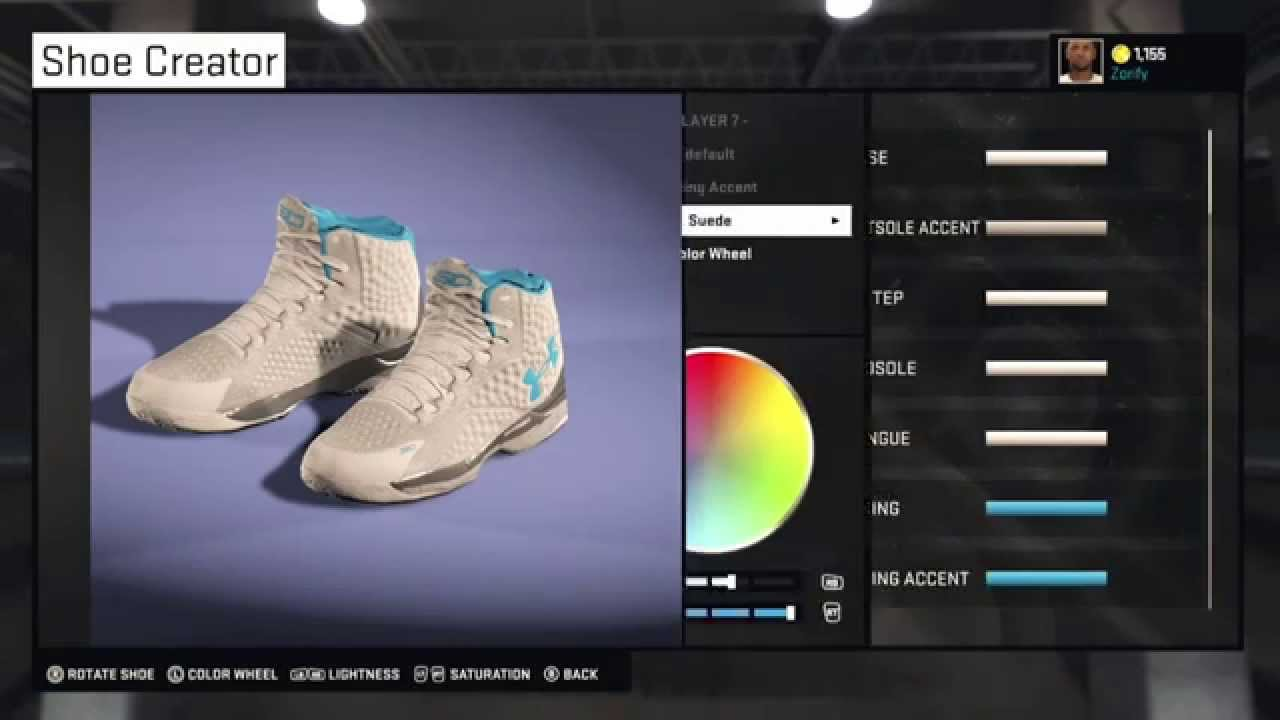 more photos deb26 1d124 NBA 2K15 Shoe Creator - Under Armour Curry 1