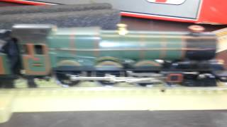 OO/HO Model Railway LIma KING GEORGE V Great Western Steam Locomotive being test run