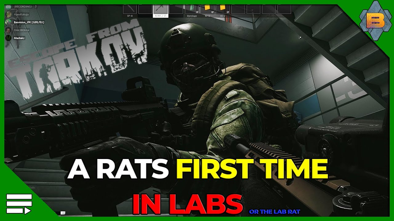 Escape from Tarkov - A Rats first time in Labs (english)