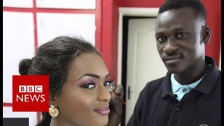 Being a male make-up artist in Senegal - BBC News