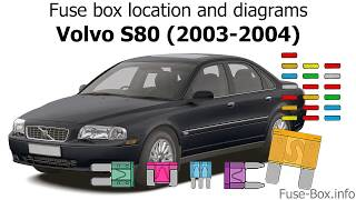Fuse box location and diagrams: Volvo S80 (2003-2004) - YouTube | Volvo S80 Alarm Wiring Diagram |  | YouTube