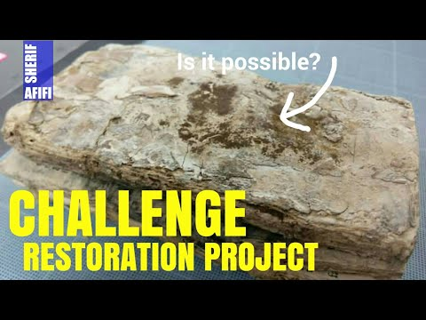 A challenge rare book restoration project