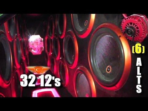 "32 12"" Subwoofers | Cadence Sounds CRAZY Truck & 6 Iraggi Alternators | HUGE Car Audio Build @ SBN"