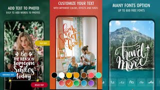 How to Use TextArt - Text to Photo - Photo Text Edit Android 2020