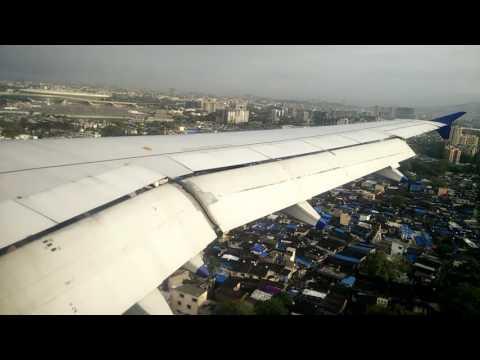 Mumbai Landing! Airplane flight view of Mumbai while landing. Indigo airlines (Mumbai to Delhi)