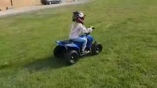 Funbikes 24v 250w Bambino Blue Kids Electric Quad Bike