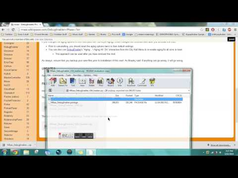 How to install Debug Enabler Mod- For Sims 3 - YouTube