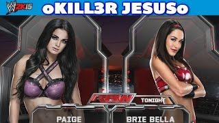 WWE 2K15 Paige vs Brie Bella - NEW DLC I Entrance Finisher Full Match I XBOX ONE PS4