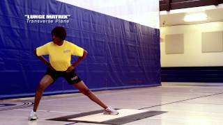 Vertical Core Training: Lunge Matrix