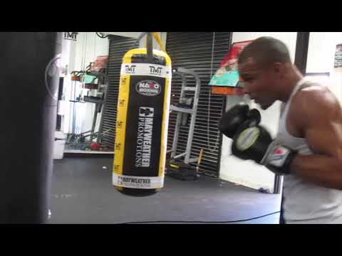 Chris Eubanks Jr hit the bags hard training for World Boxing Super series tournament