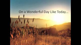 On a Wonderful Day Like Today - Darryl Cotton & The Australian Youth Choir