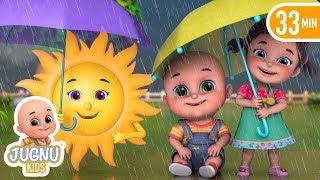 Barish aayi cham cham | Do Chuhe The | Rain | Hindi Poem | Hindi Rhymes by Jugnu Kids