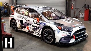 0-60mph in Under 2 Seconds!? Under the Hood of the 600hp AWD Ford Focus RS RX Rallycross Car