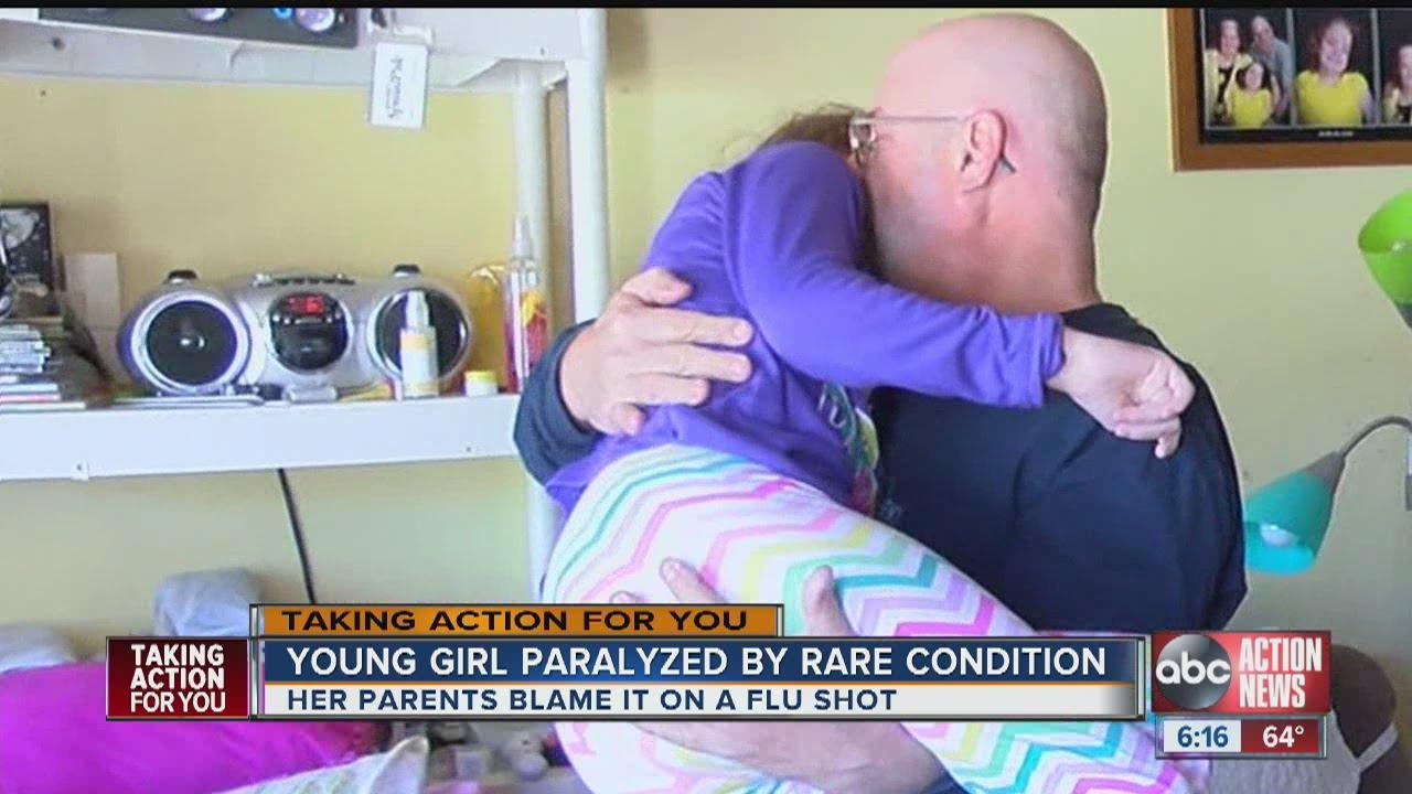 Flu shot blamed for paralyzing Tampa girl