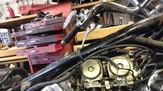 Yamaha vstar 650 . Carb n intake boot rebuild.(15)