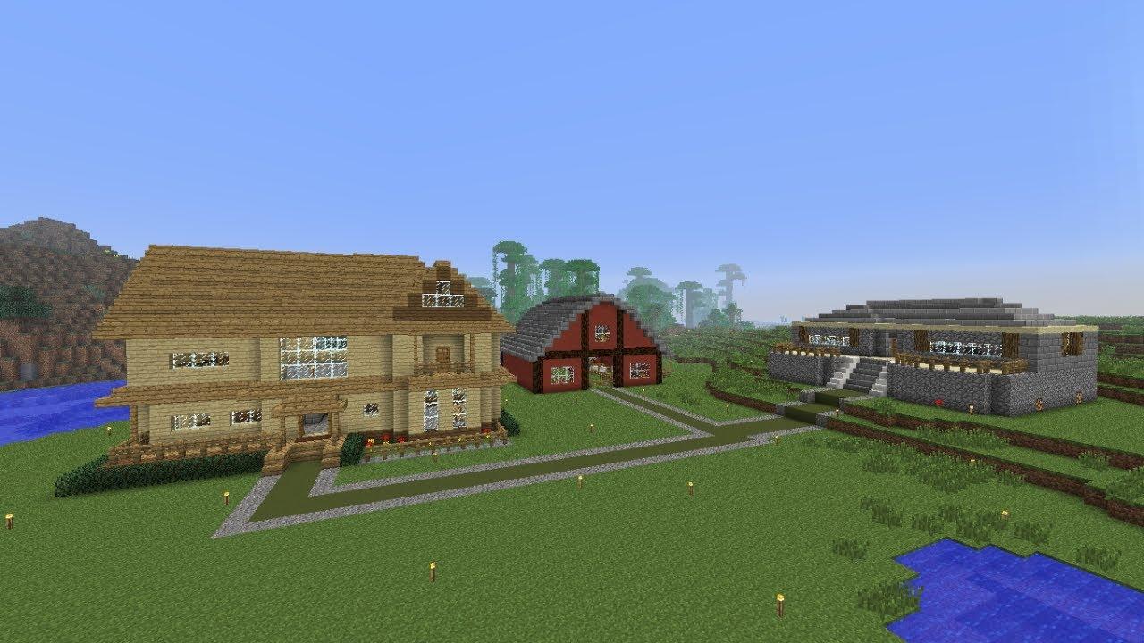 minecraft speedbuild 3 barn house youtube