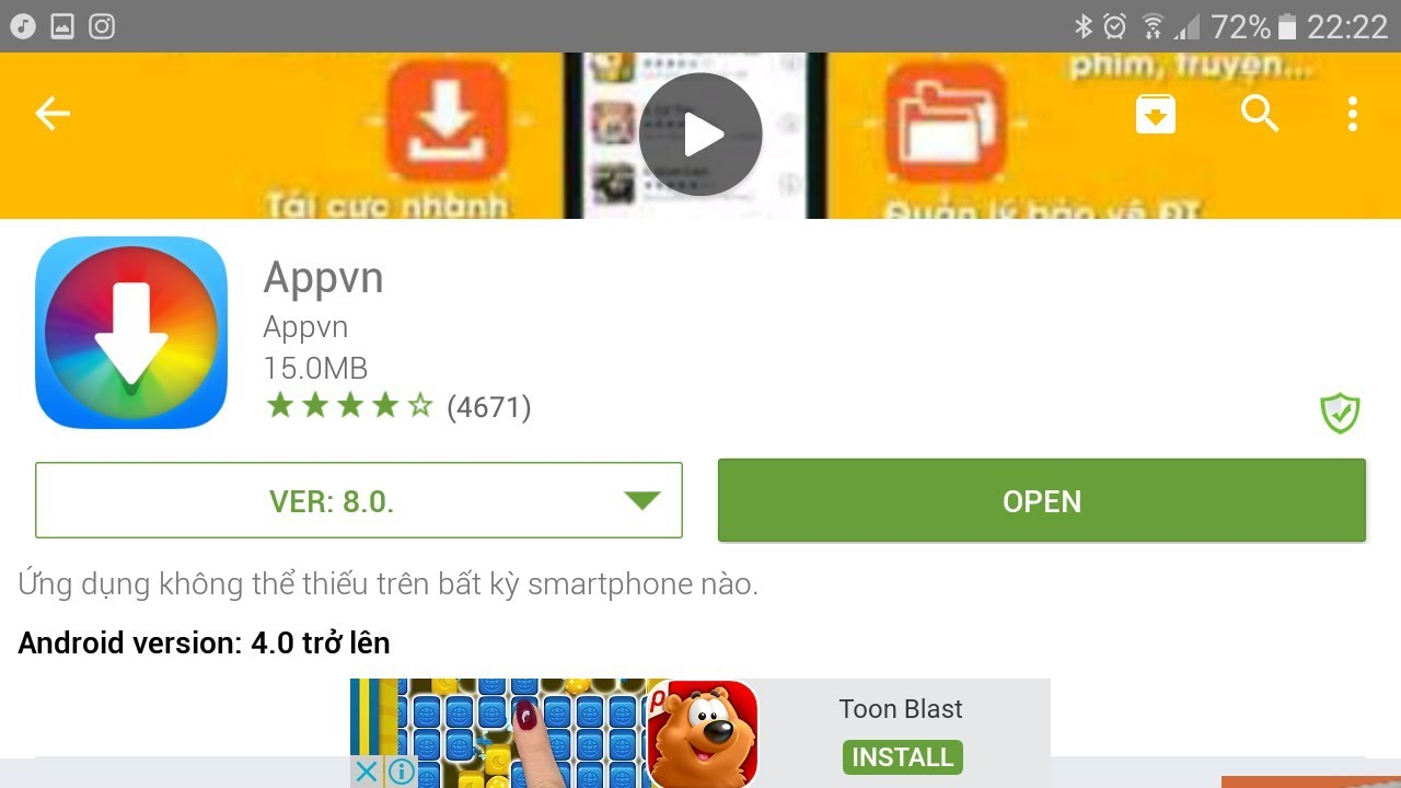 appvn download play store
