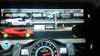 Repeat youtube video Drag Racing 11.915 TUNE level 9 1/2 Koenigsegg AGERA R